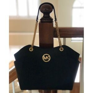 Michael Kors 💋 Black Jet Set Travel Shoulder Tote